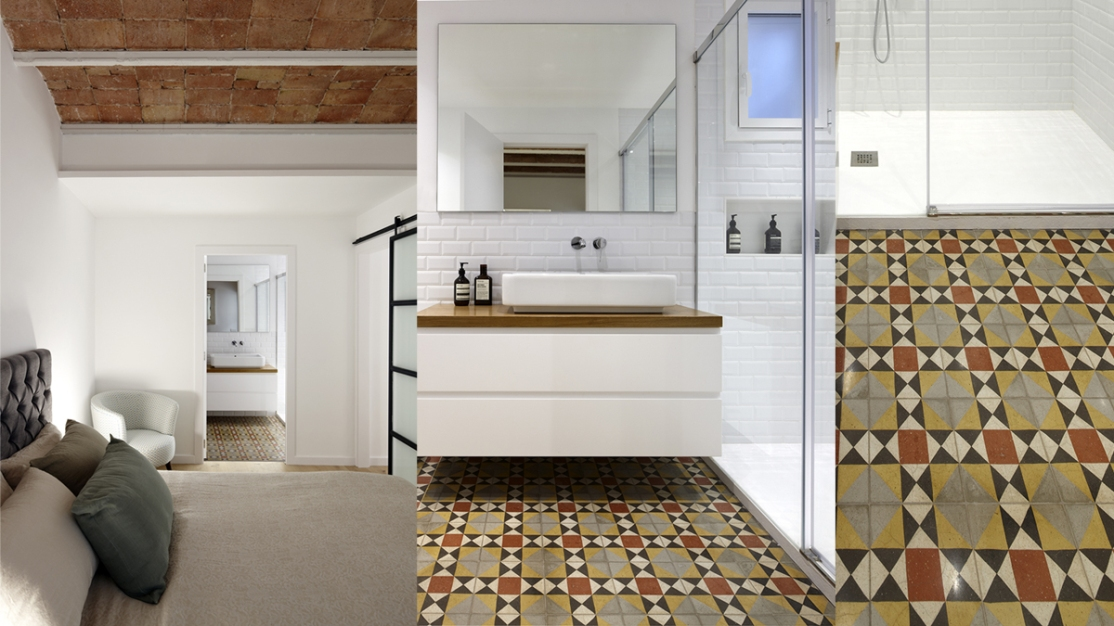 Carreaux Ciment Pinar Miró. Appartement C. Valencia Barcelona